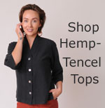 womens hemp Tencel tops