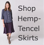 womens hemp Tencel skirts