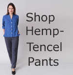 womens hemp - Tencel pants