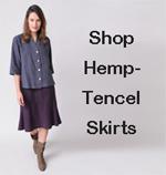 shop women's hemp - Tencel skirts