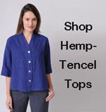 Shop women's hemp - Tencel Tops